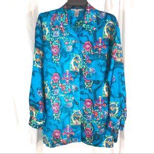 Gorgeous Vintage Silk Shirt by Robert Stock
